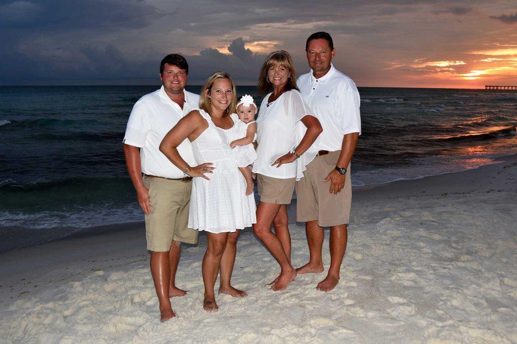 Sunset family photo