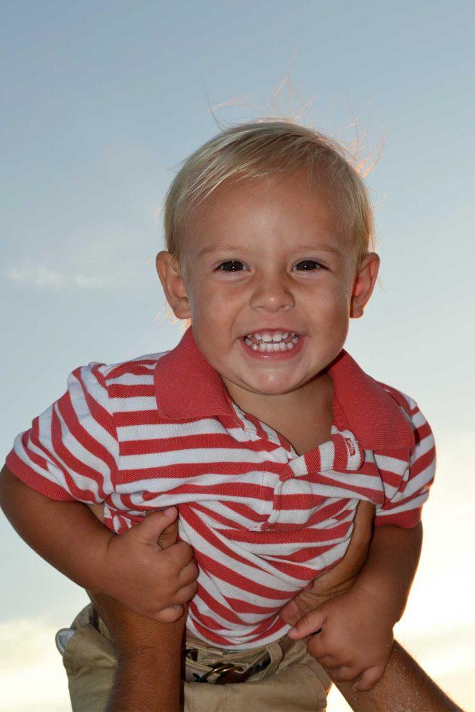 Happy little boy in one of our Destin beach photos