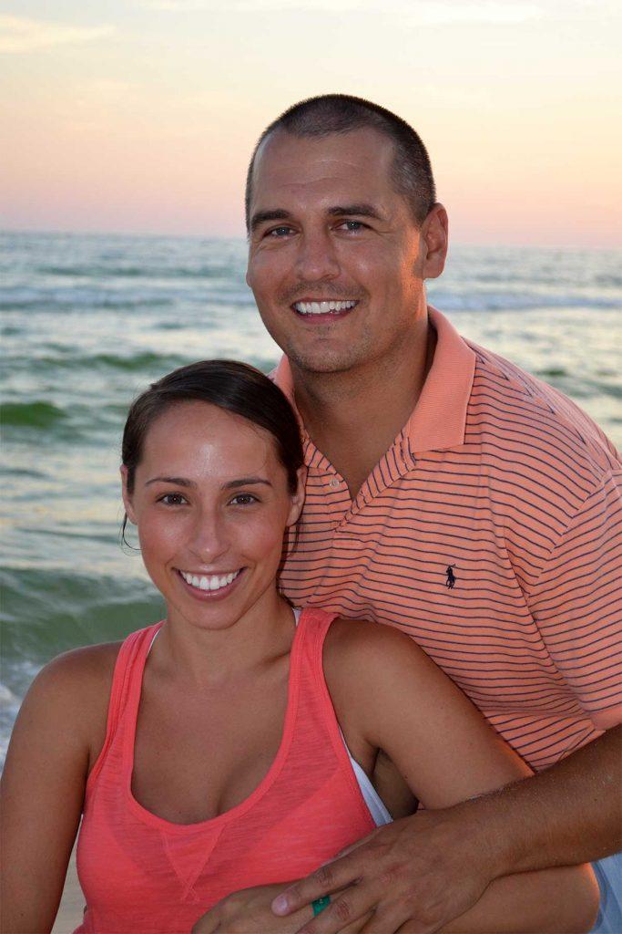 Smiling couple in a Destin, Florida, beach portrait