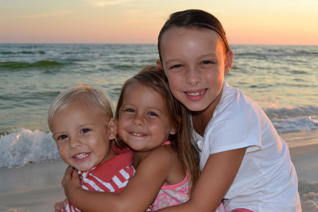 Our photographer shot these cute kids on the beach in Destin, FL