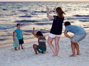 Our beach photographer snapping photos...