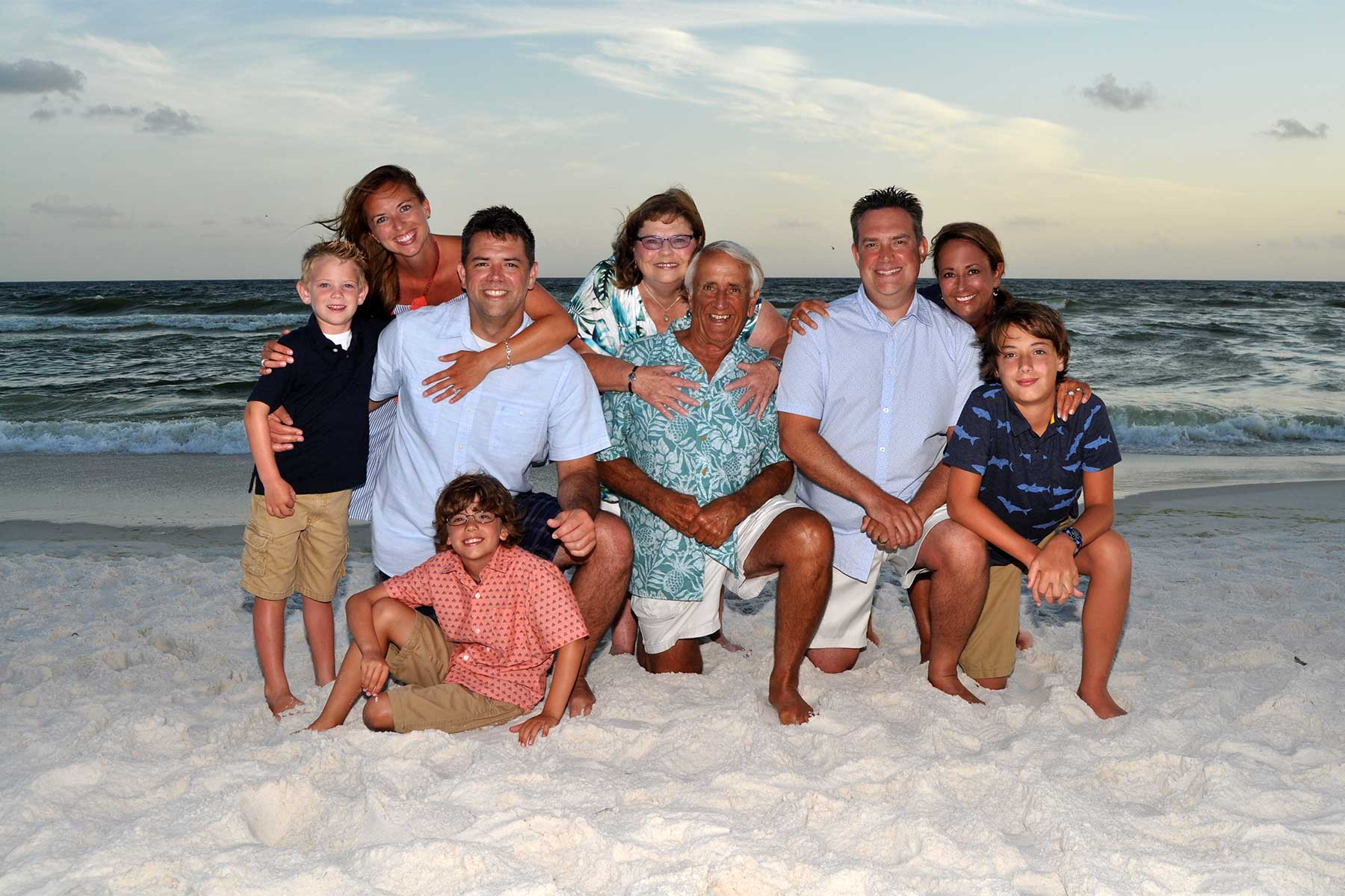 Large family beach photo