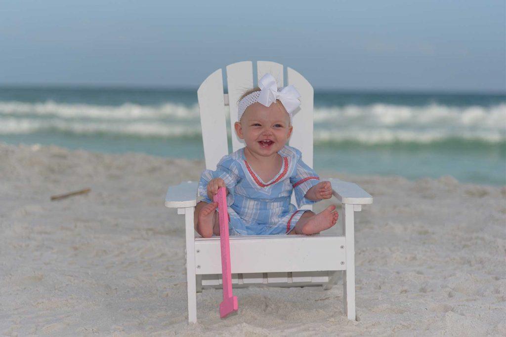 smiling baby birthday photo