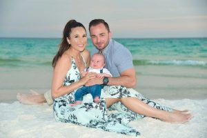 Panama City Beach photos are a great to welcome your newest family addition.