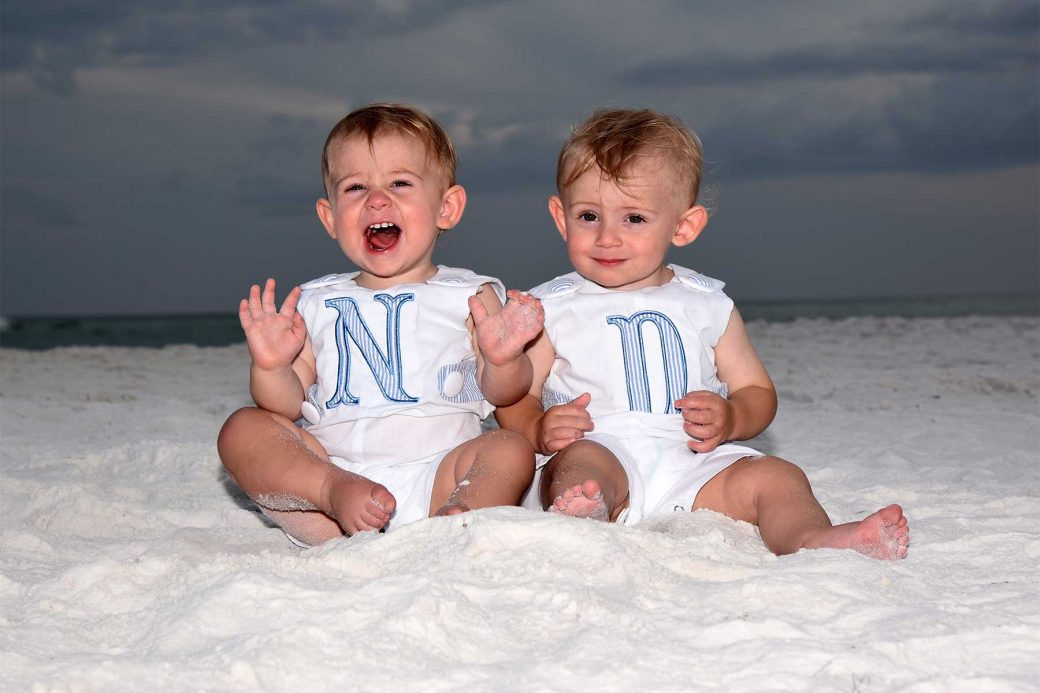 Although cloudy this photographer Panama City Beach, Fl made sure yo get the kids smiling!
