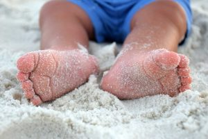 Panama City Beach photographer captures cherished footprint in the sand.