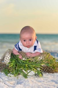 We also offer sunset baby photos Fort Walton Beach--like this little guy.