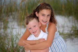 sister and brother beach photos