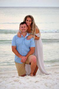 sunset couple photo on beach