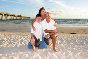 Panama City Beach has many options for backdrops, but the pier adds a depth to the photo.