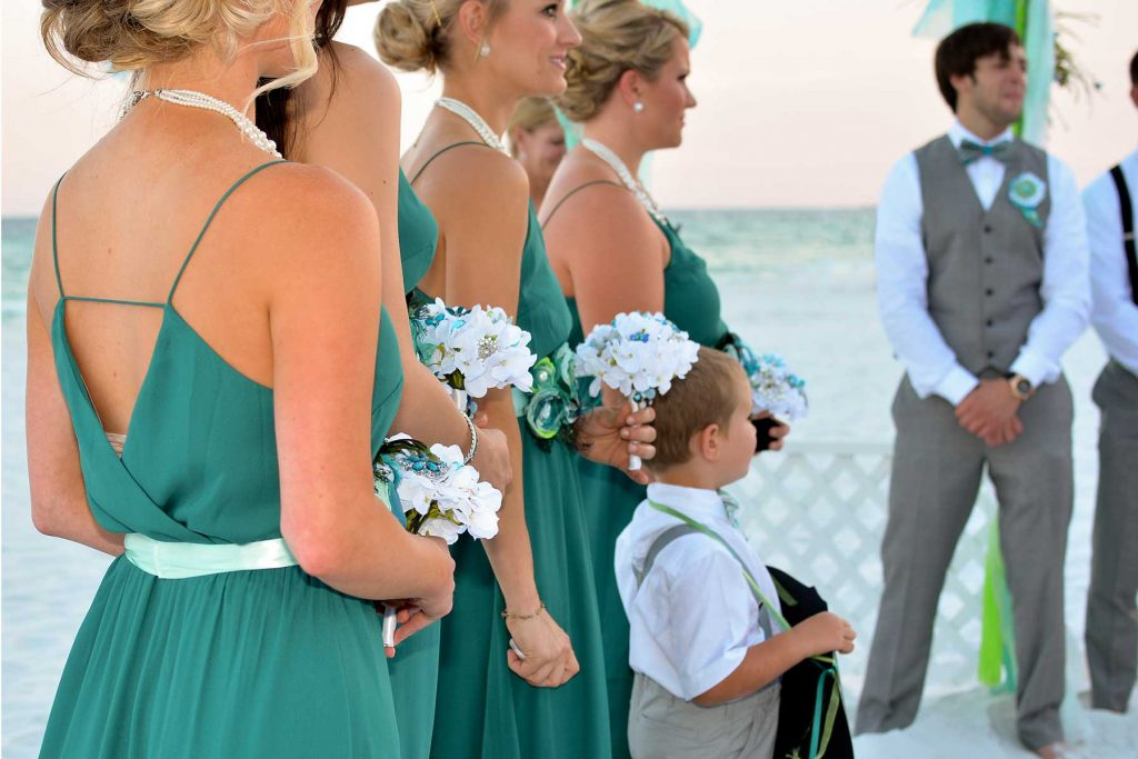 A beach wedding in Panama City Beach.