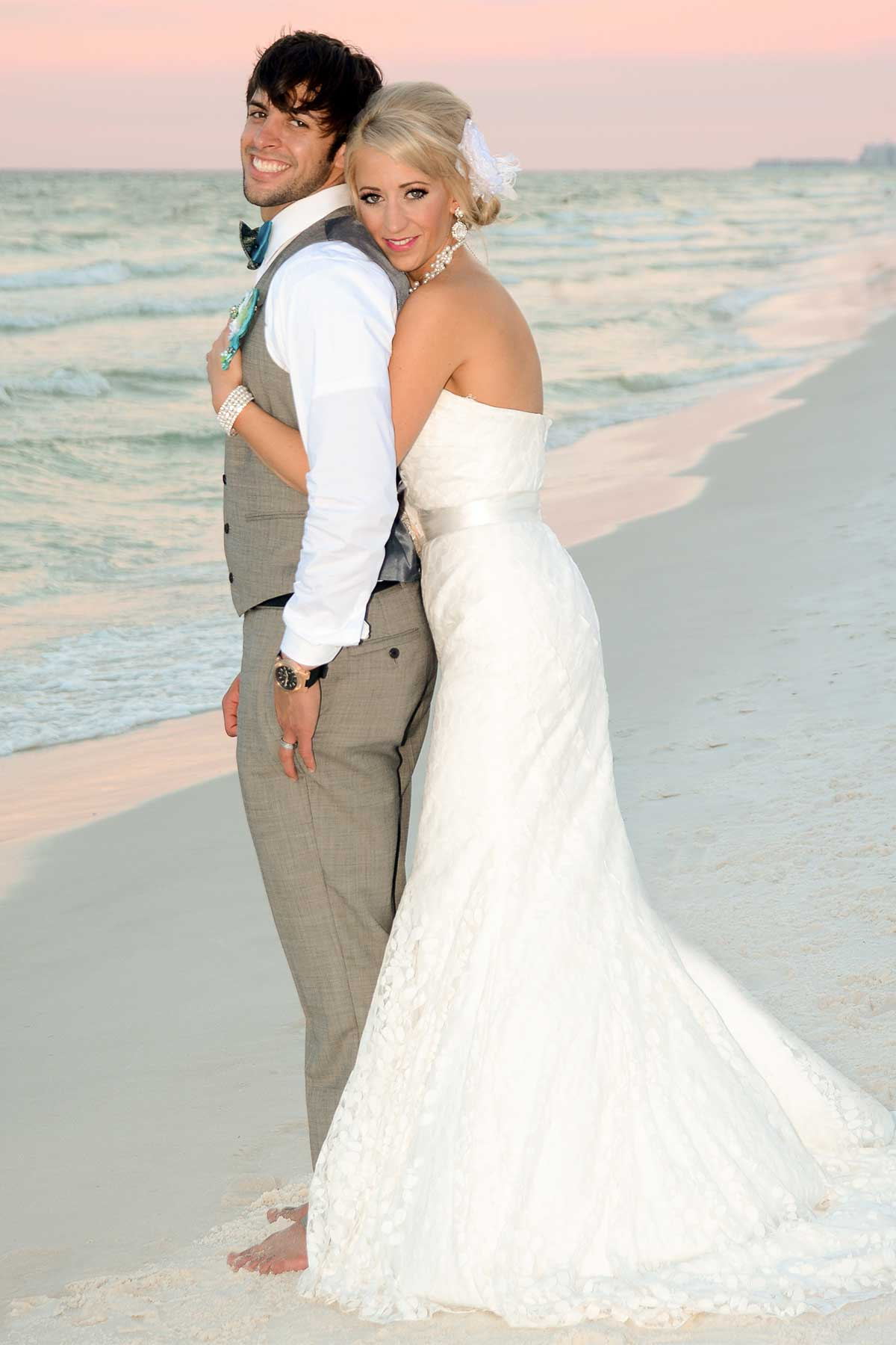 Our wedding photographers know lots of poses that will help make your photos look great.