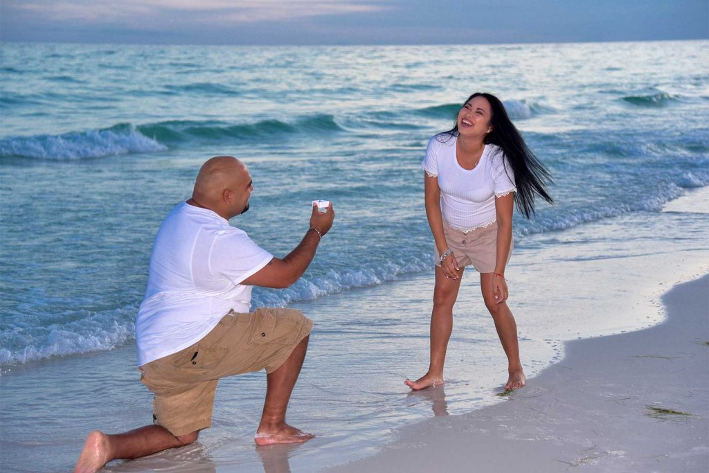 Surprise, she said yes and our PCB photographer was there to document it all!