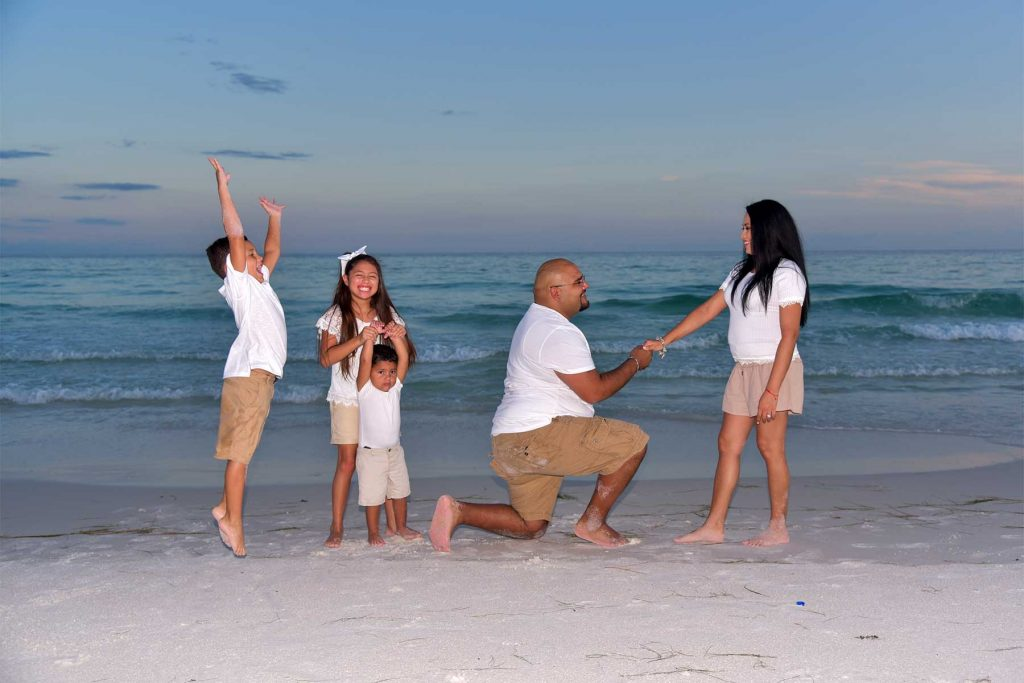 Getting the family invloved during sunset portraits in Panama City Beach, FL is enjoyable for everyone.