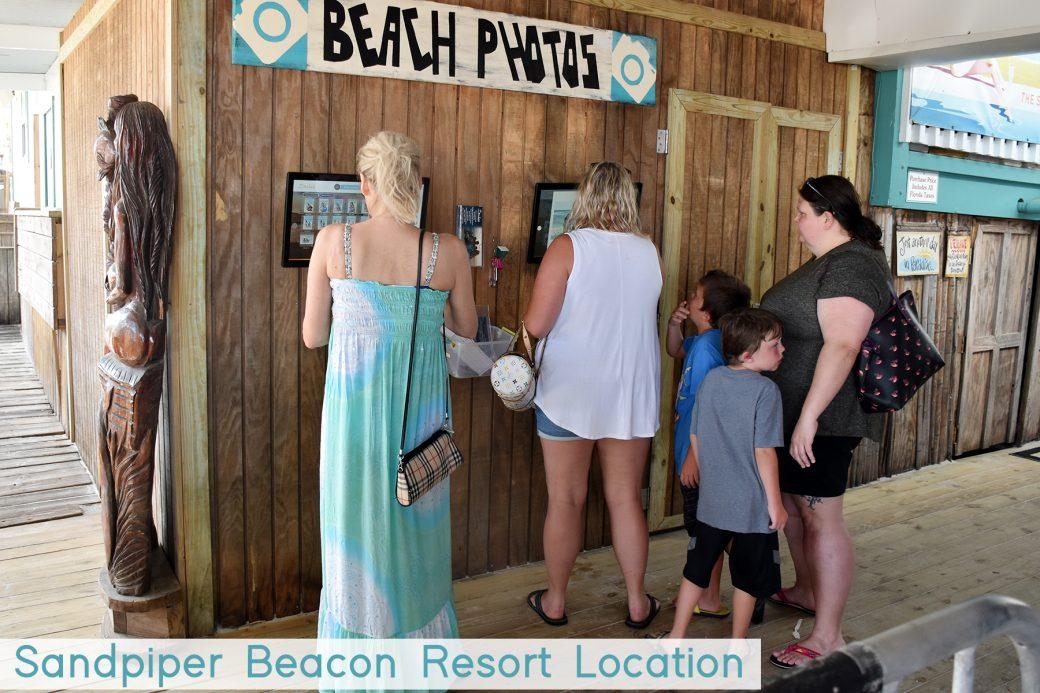 Choosing photos at the kiosk