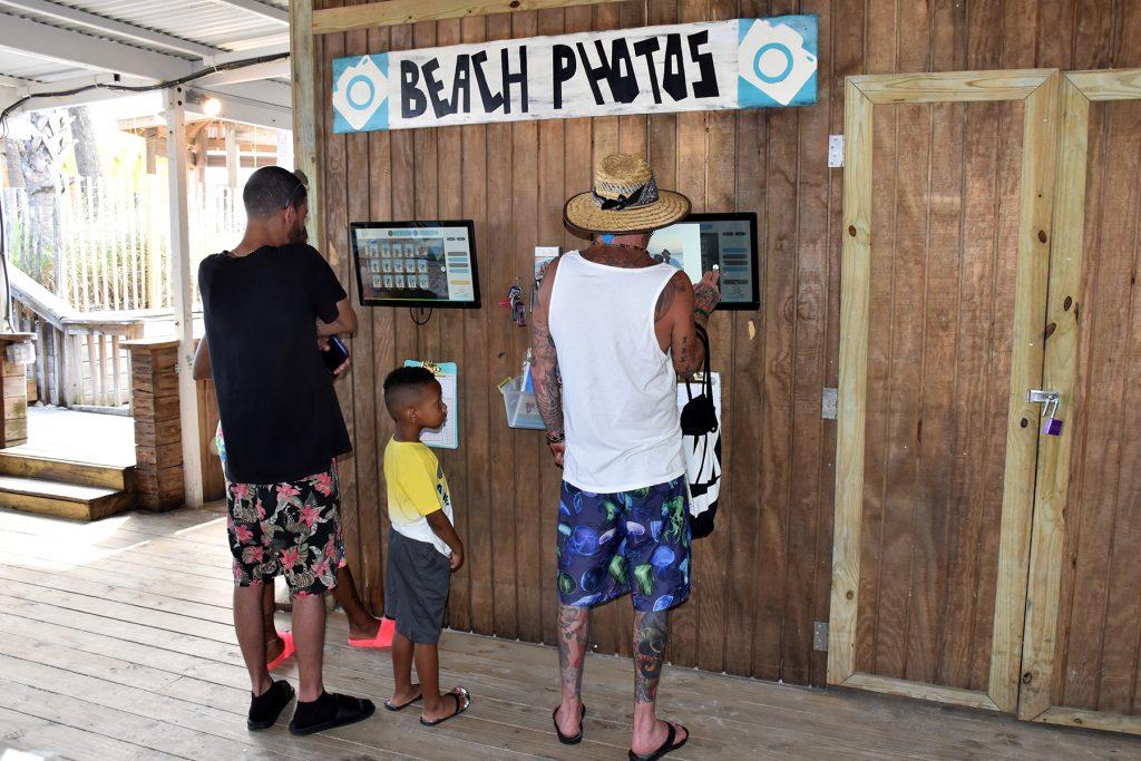 Beach photo kiosk at Sandpiper Beacon Resort